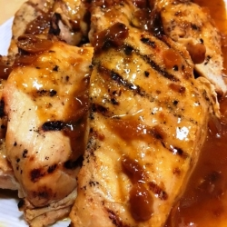 Honey Mushroom Glazed Chicken Breast
